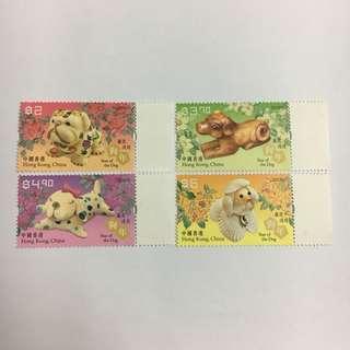 香港郵政 本地郵票-2018年狗年生肖郵票 4款