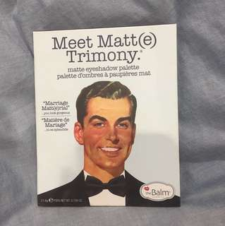 """Meet Matt(e) Trimony eyeshadow palette"