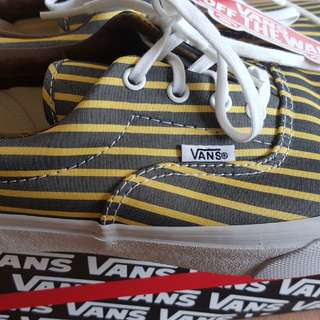 VANS yellow/true white stripes