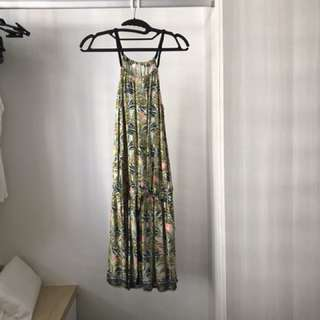 Promod Green Printed Dress