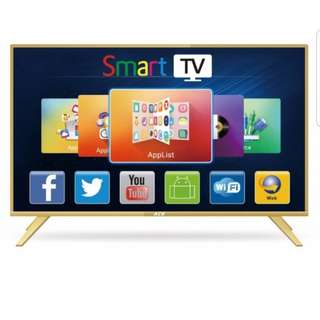 "Ace 32"" Aluminum Slim HD Smart TV Gold LED"