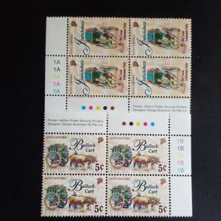 Singapore stamps. A set in 4 stamp.