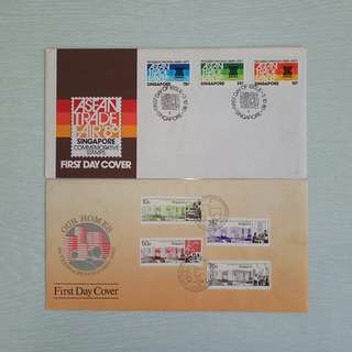 Singapore First Day Cover 2pcs $5