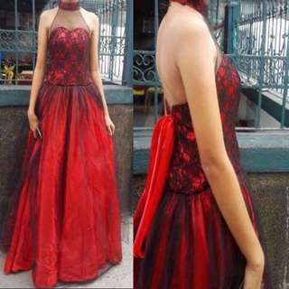 Red Black Gown For Sale