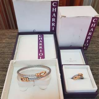 Authentic Chariol Bangle and Ring