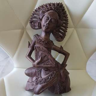 Balinese Hand crafted/carved wooden statue