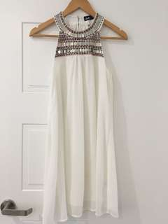 Lovely White Chiffon Dress