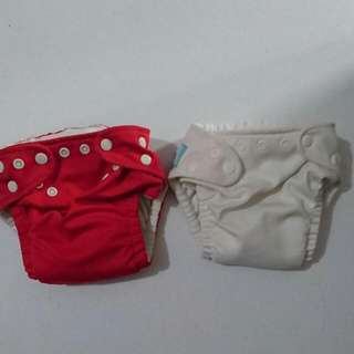 2pcs Charlie Banana cloth diapers (one size) with inserts