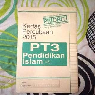 PT3 Kertas Percubaan Pendidikan Islam