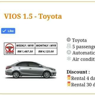 Toyota Vios Untuk Disewa