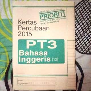PT3 Kertas Percubaan Bahasa Inggeris
