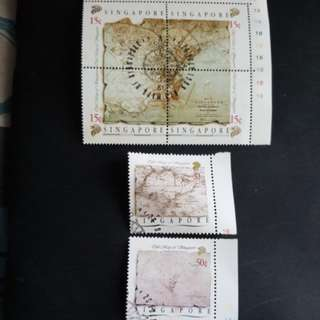 2 set of Singapore stamps.