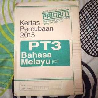 PT3 Kertas Percubaan Bahasa Melayu