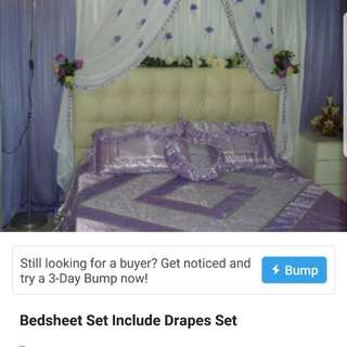 Purple Color bedsheets for bridesroom