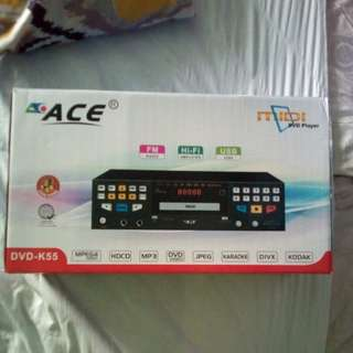 Ace dvd-k55 karaoke with built in amp and microphone