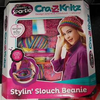 Cray-z-knit styling slouch beanie