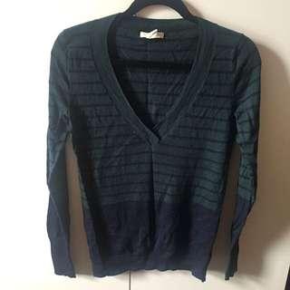 Club Monaco 羊毛條紋毛衣