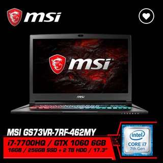 MSI GS73VR STEALTH PRO (GTX1060 6GB GDDR5)