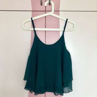 Chiffon Top (Forest Green)