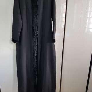 Black long dress / jubah from Poplook