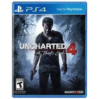 Uncharted 4 Thief's End PS4