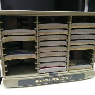 Super Famicom cartridge rack