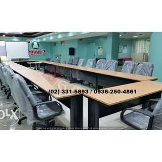 freestanding ( conference desk ) office partition *