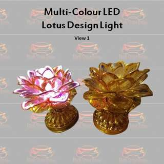 Multi-Colour LED Lotus Design Light