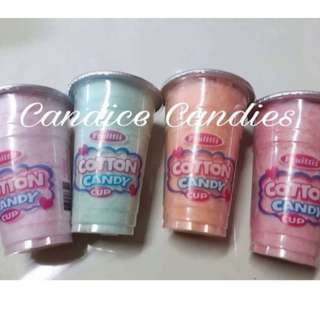Cotton candy in a cup