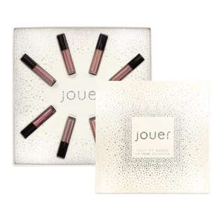 Jouer best of nudes mini long wear lip creme gift set - bare, dulce de leche, naked, papaye, rayanne, rose, tawny rose, terra (longwear lip cream)