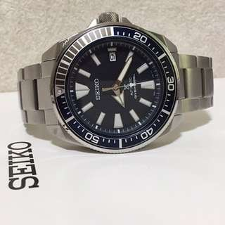 Seiko Prospex Samurai SRPB49K1 Automatic Divers Blue Texture Dial Stainless Steel Strap