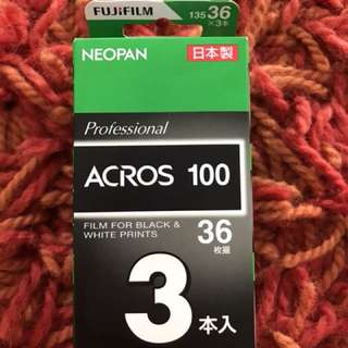 Fuji acros 100 (35mm) pack of 3