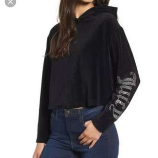 U.S. AUTHENTIC JUICY COUTURE JACKET HOODIE PULL OVER LARGE PLUS SIZE