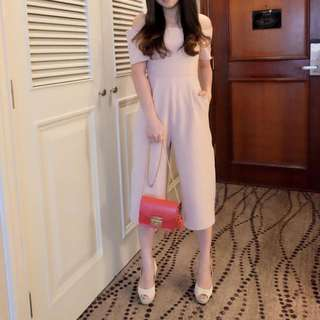 Jumpsuit pink bow