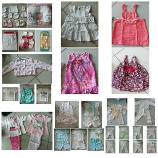 Preloved Bundle Baby Girl Clothes