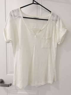 Clean simple white/cream top