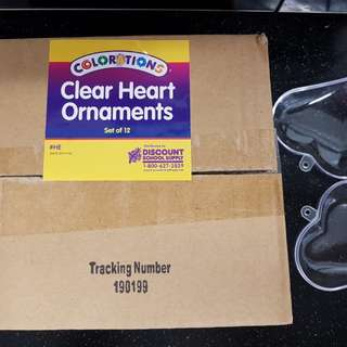 Clear Heart Ornaments