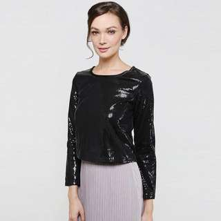 Brand AERE Sequin TOP