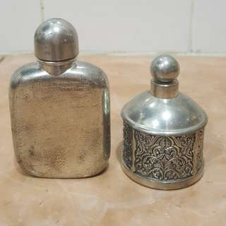 Vintage Selangor Pewter OCBC bank mini canister 2