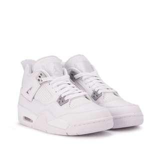 "Nike Air Jordan IV Retro ""Pure Money"" GS (White)"