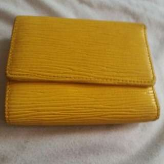 REPRICED! Small YELLOW card/ bill/coin wallet
