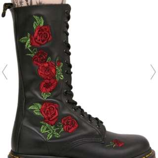 Doc Martens boots - roses