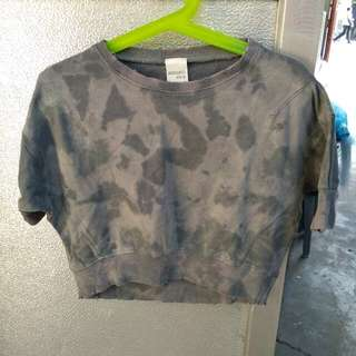 Gray crop top for girls 5-6 y.o.