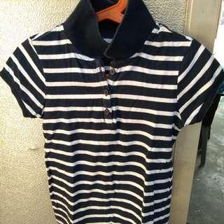 Gap striped collared shirt