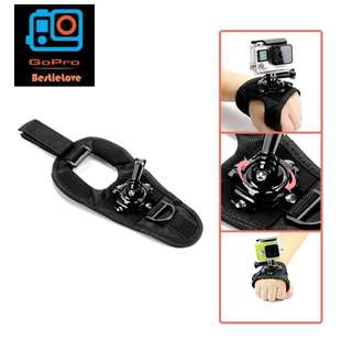 Glove Wrist Band 360 Degree Swivel Rotation Hand Strap Belt Tripod