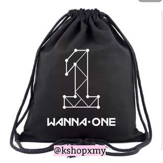 Wanna One Drawstring Bag