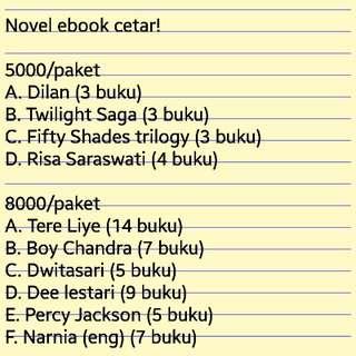 Paket novel ebook murah meriah
