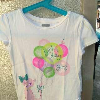 Gap White Birthday shirt