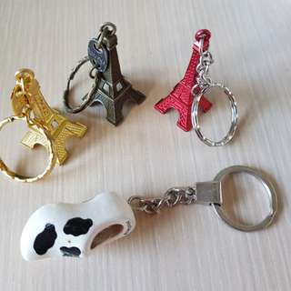 Eiffel Tower / Holland Clog Key Chains
