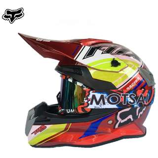 ★READY STOCK★FREE GOGGLES ★ FOX FULL FACE MOTORCYCLE HELMET ★OFF ROAD ★ RED ★ MOTOCROSS ★ e-SCOOTER ★ e-bike ★ DIRT BIKE★DOWNHILL ★ NEW ARRIVALS